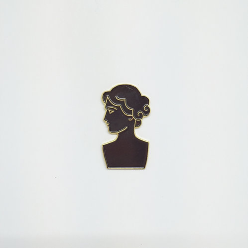 Shelf Life Pin Roman Bust Black
