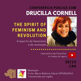 Conferência de Drucilla Cornell discute os caminhos de um feminismo ético para a revolução