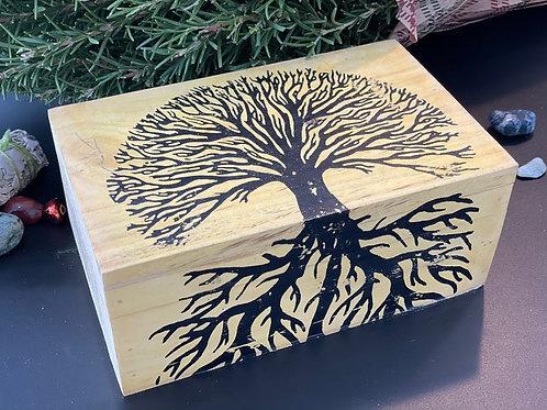 Handicraft Wood  Stash Box Painted