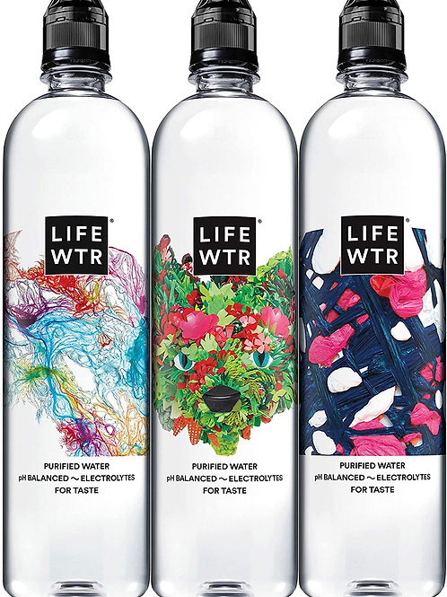 LIFEWTR Premium Purified Water  23.7 Flip top bottle