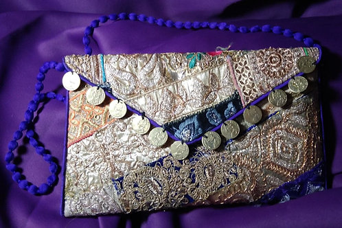 Hand Bag Gold Envelope Style