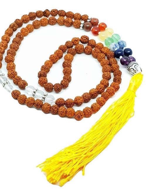 Chakra Rudraksha Mala Prayer Beads