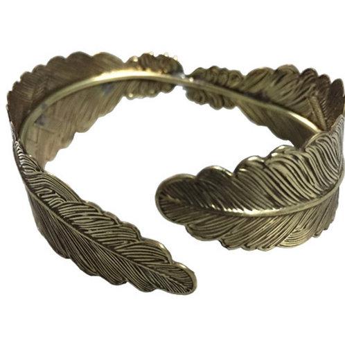 Brass Bracelet Leaf