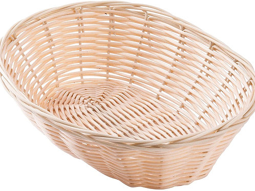 Handwoven Polypropylene Oval Basket