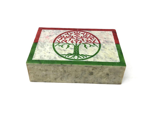 Hand Carved Stone Storage Boxes