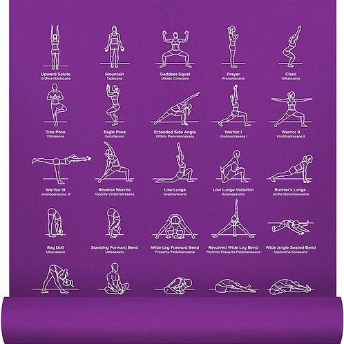 NewMe Yoga Mat Printed w/ 70 Illustrated Poses