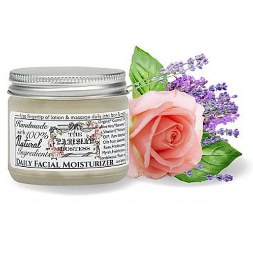 Natural Facial Moisturizer with Essential Oils