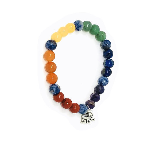 7 Chakra Charm Bracelet