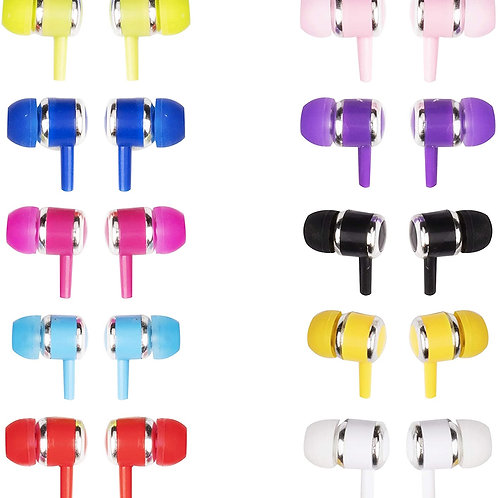 JustJamz Marbles Colorful Earbud Headphones for Kids and Adults