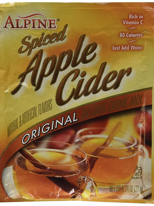 Alpine Spiced Cider Original Apple Flavor Drink Mix 0.74-Ounce Packets
