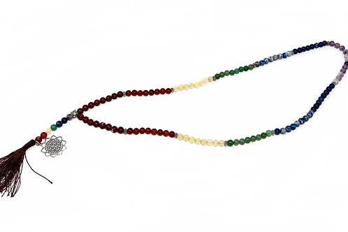 Chakra Rainbow Japa Mala Prayer Beads