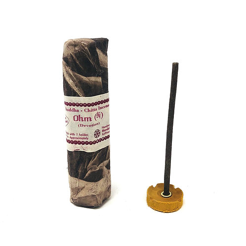 Organic Blend Tibetan Incense with Clay Burner