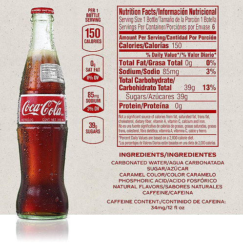 Mexican Coke Products, 12 fl oz Glass Bottles