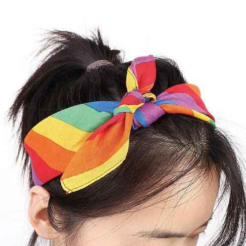 Gay Pride Rainbow Stripe Bandana