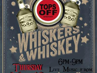Whiskers & Whiskey at Tops Off
