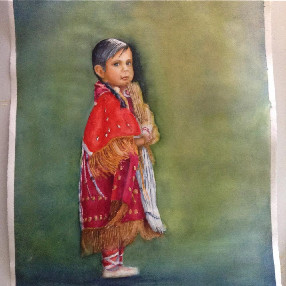 Mary Russell.Selena,Oglala Princess,Watercolor.JPG