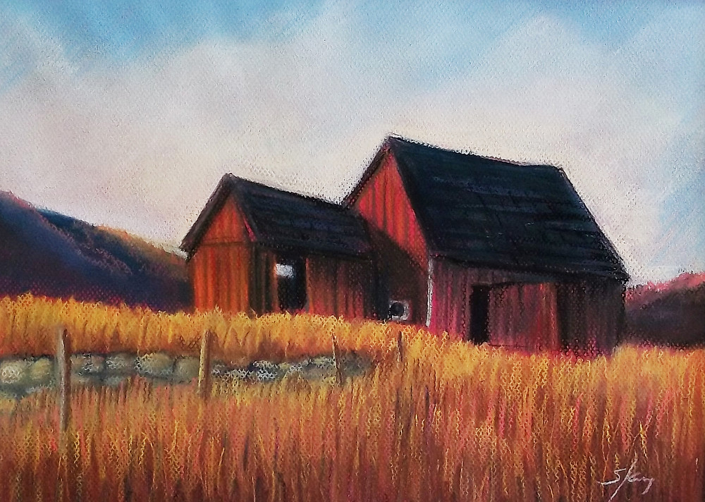 June ArtWalk - Sandra.King.New Red Barn.Pastel.jpg