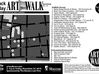 Black Friday ArtWalk Map