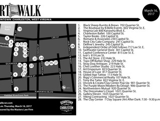 March 16 ArtWalk Map