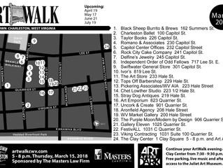 ArtWalk is Back! March 15th Map