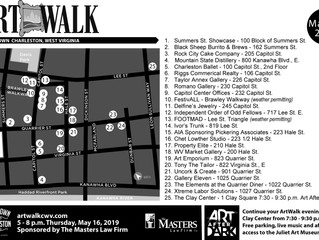 May ArtWalk Map and Summers St. Showcase Schedule