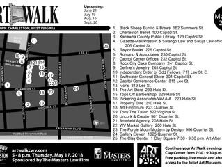 May ArtWalk Map