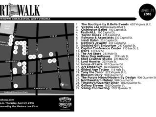 April 21 ArtWalk Map