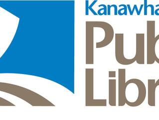 Get a library card and ArtWalk t-shirt at Kanawha County Public Library.