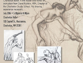 Charleston Ballet hosts an Interactive Drawing Event