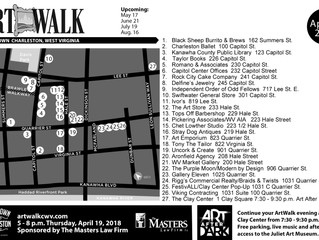 April ArtWalk Map