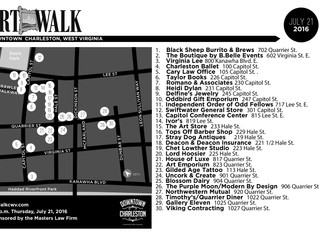 ArtWalk Map: July 21