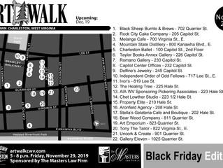 November Black Friday ArtWalk Map