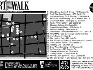 August ArtWalk Map