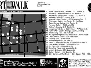 October ArtWalk Map