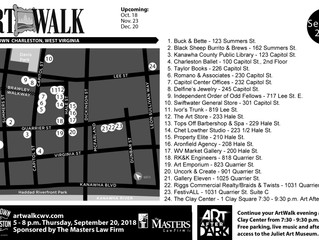 September ArtWalk Map