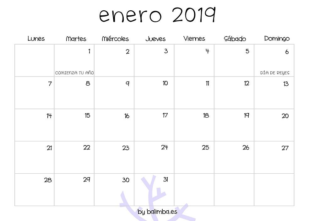 Calendario BALIMBA 2019