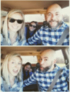 Car selfies on the way to get our tree.j