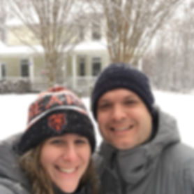 Smiling Couple in Snow
