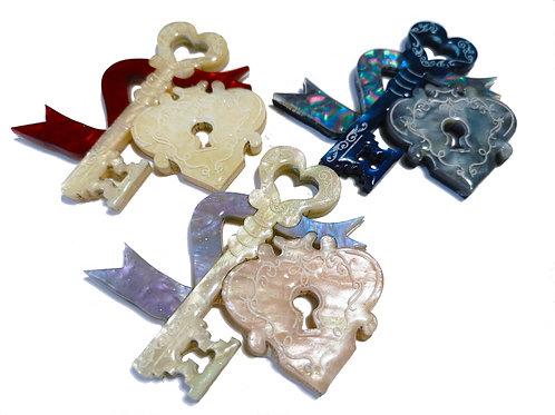 Lock & Key brooch