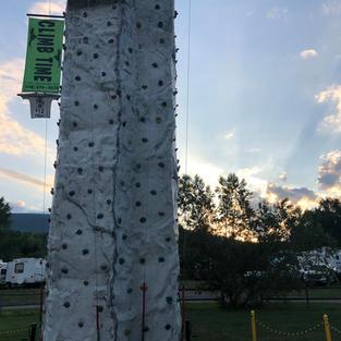 Evening campground event.