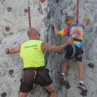 Sometimes Jim climbs to lend a hand.