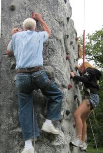 No one is too old for climbing!