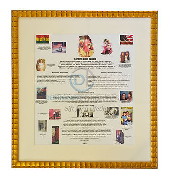 Basic Tribute Framing Package