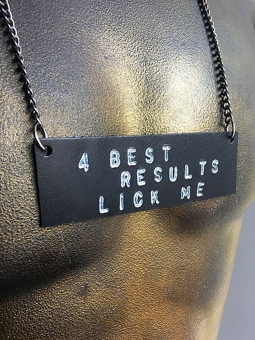 Lick Me Necklace