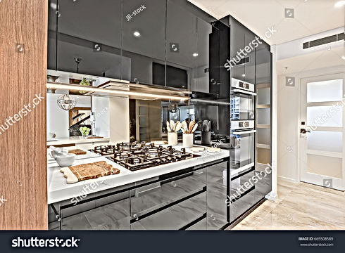 stock-photo-black-color-pantry-cupboards