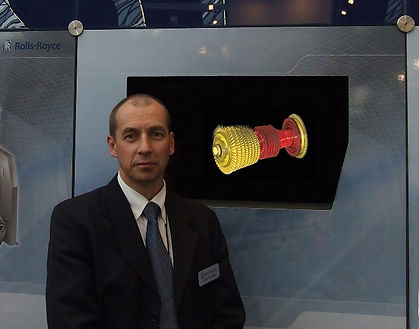 VisPod exhibition system for Rolls-Royce