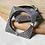 Thumbnail: PIAZZA KANGANA - Contemporary Minimal Square Silver Look Alike Brass Bangle