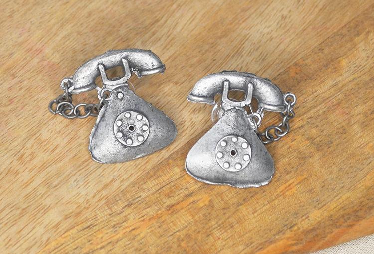 Telephone Stud  Earrings