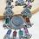Thumbnail: Oxidized Meenakari Necklace and Earrings Set
