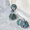 Thumbnail: MAYURI - Stone Studded German Silver Jhumka Earrings